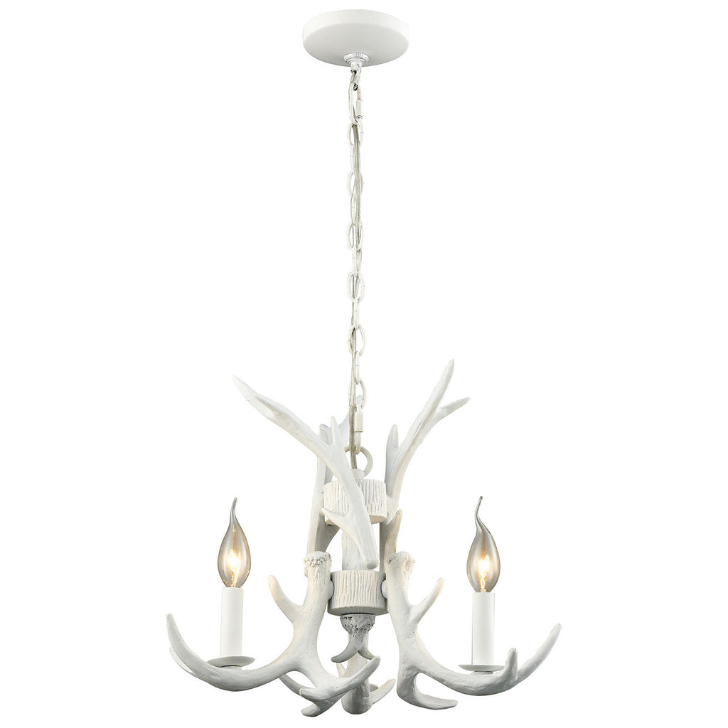 Big Sky 3 Light Chandelier in White