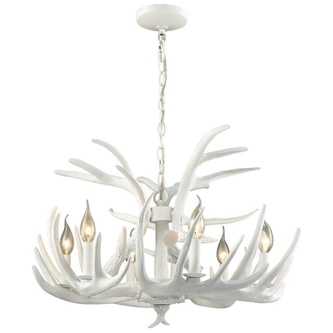 Big Sky 6 Light Chandelier in White