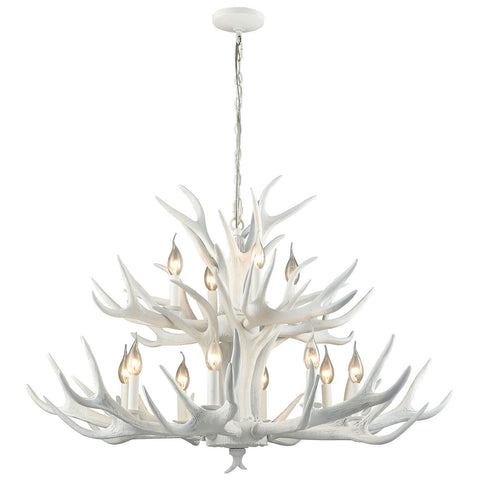 Big Sky 12 Light Chandelier in White