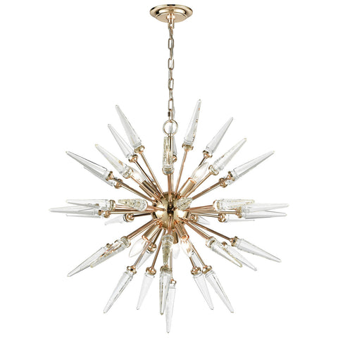 Valkyrie Chandelier in Gold with Clear Crystal
