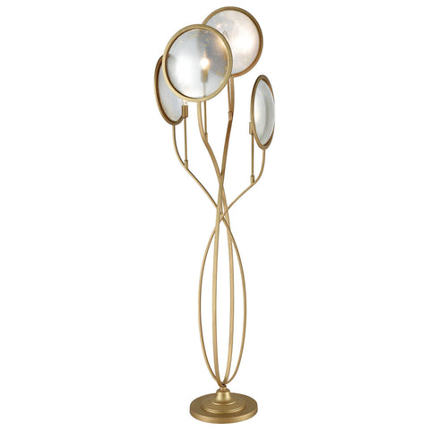 Le Style Metro Floor Lamp in Gold with Antique Mercury