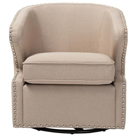 Finley Mid-century Modern Fabric Upholstered Swivel Armchair
