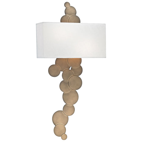 Holepunch 2-Light Wall Sconce in Gold Leaf