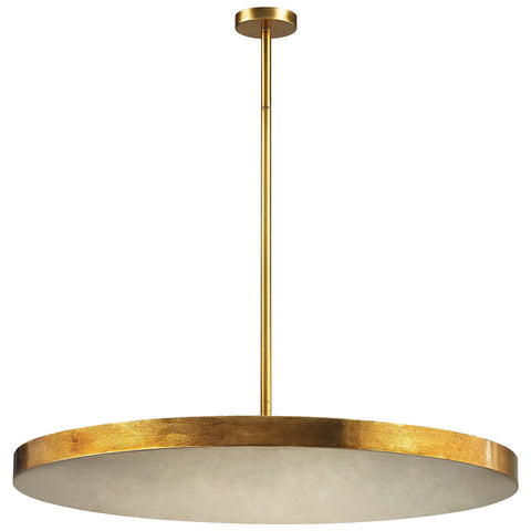 Laigne 4-Light Disc Pendant in Gold Leaf