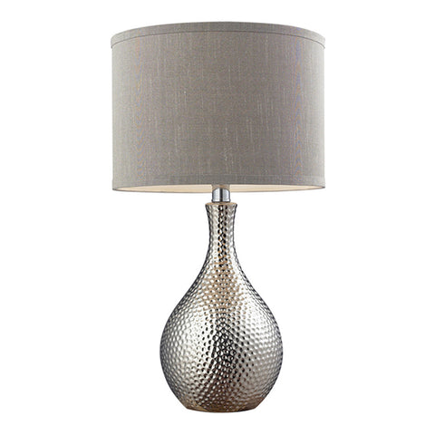 "22"" Hammered Chrome Table Lamp in Chrome"