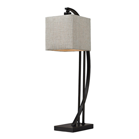 "26""Arched Metal Table Lamp in Madison Bronze"