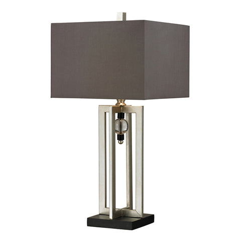 "30"" Crystal Accent Table Lamp in Silver Leaf"