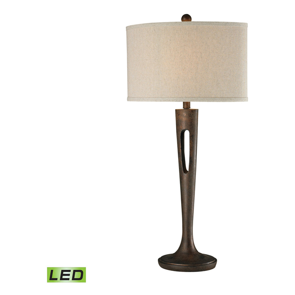 Martcliff LED Table Lamp, Burnished Bronze