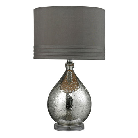 "24"" Bubble Glass Table Lamp in Mercury"