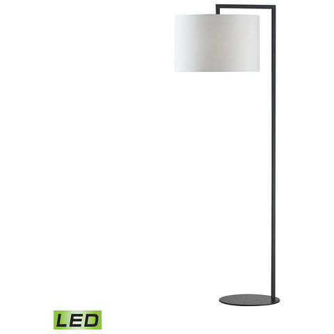 Bronze Stem LED Floor Lamp in Matte Black