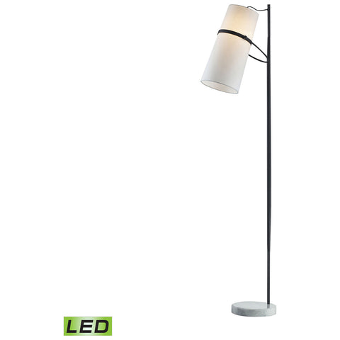 Banded Shade LED Floor Lamp in Matte Black