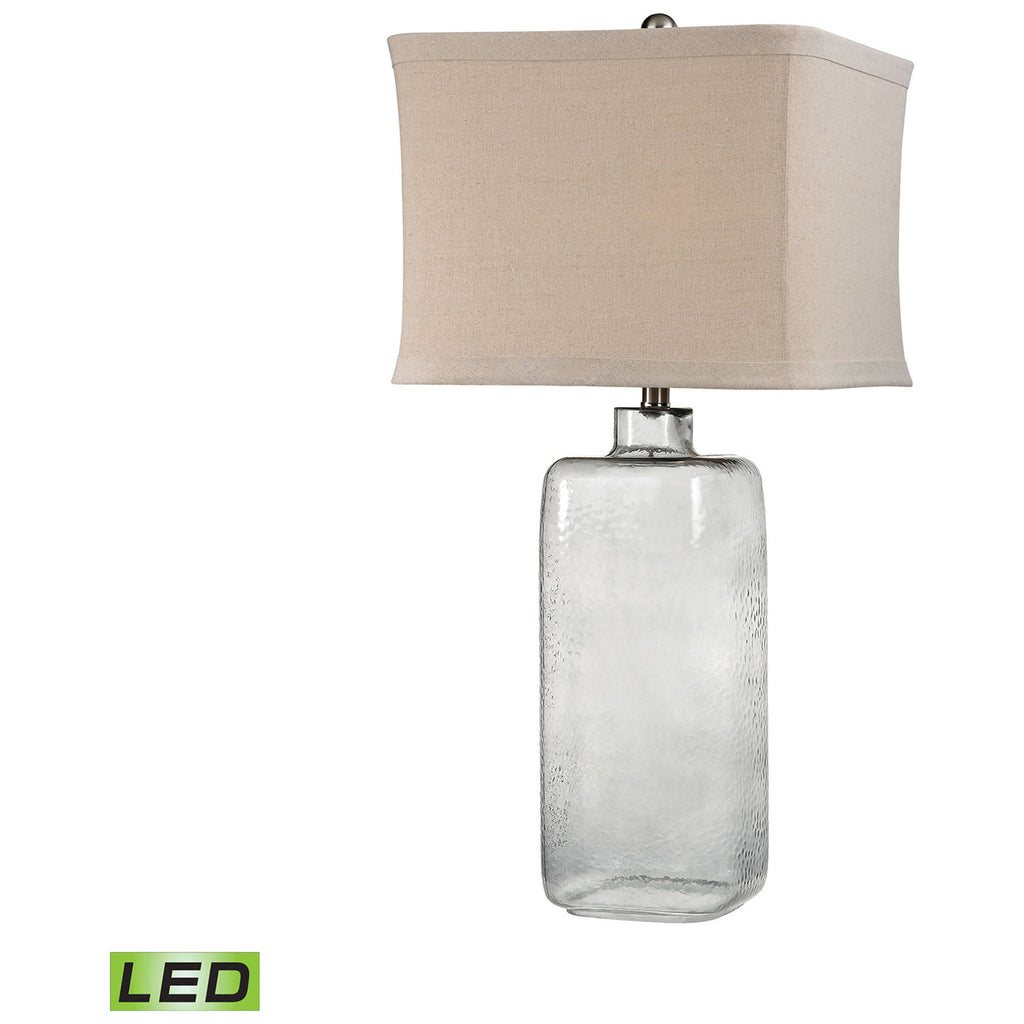 Hammered Glass LED Lamp in Gray Smoke