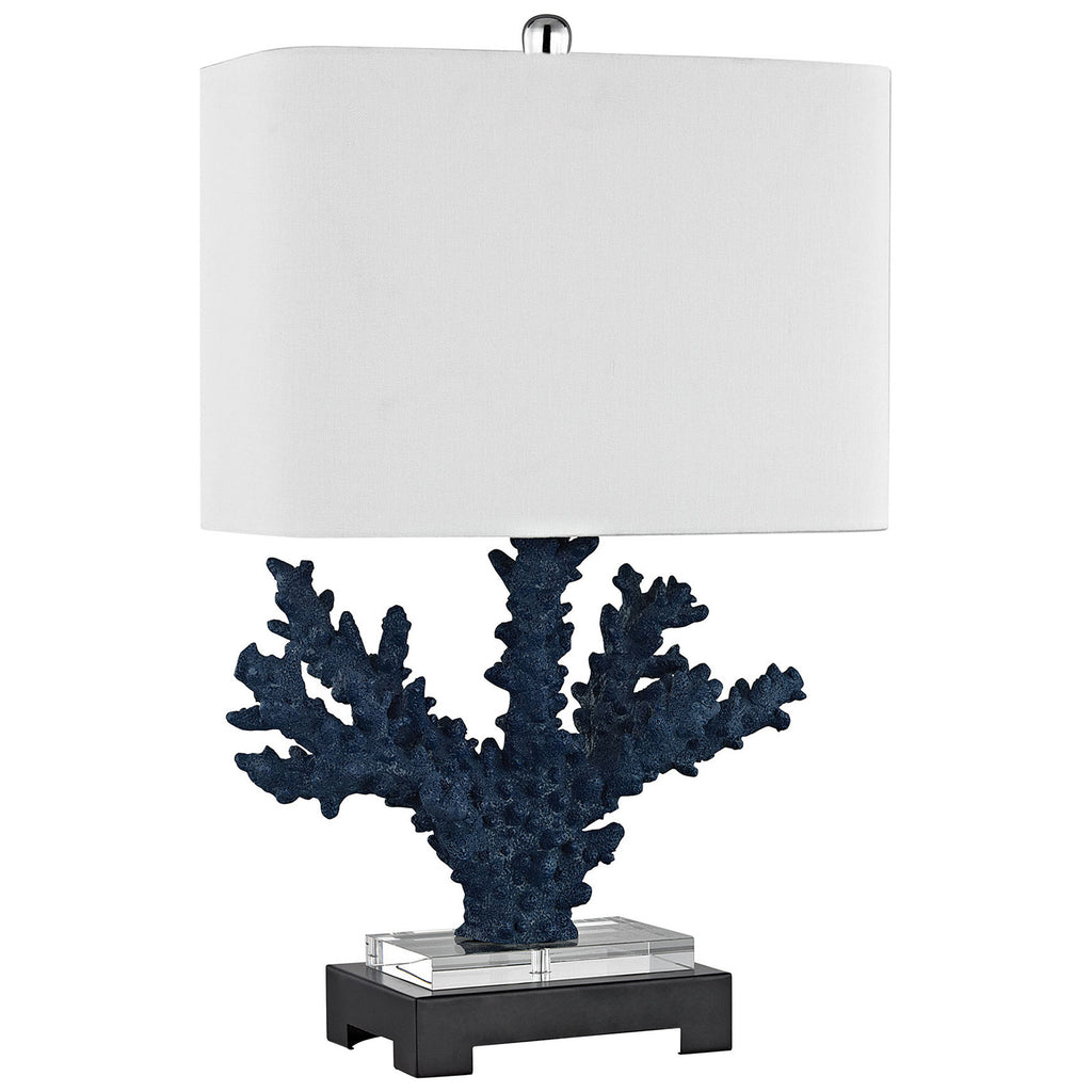 Cape Sable Table Lamp in Navy Blue and Black