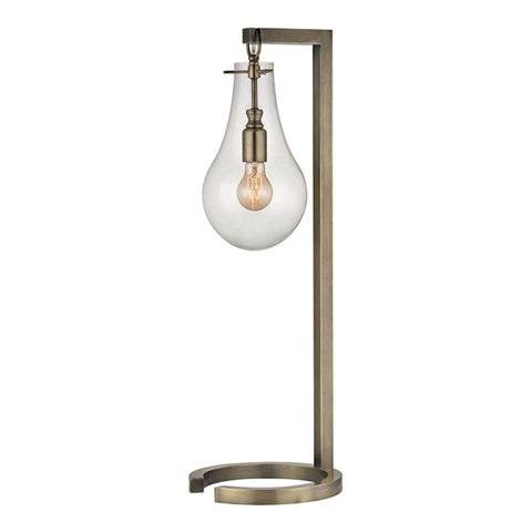 "29"" Metal Table Lamp in Antique Brass"