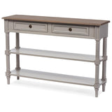 Edouard White Wash Distressed Two-tone 2-drawer Console Table