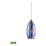 Iridescence 1-Light Satin Nickel Pendant