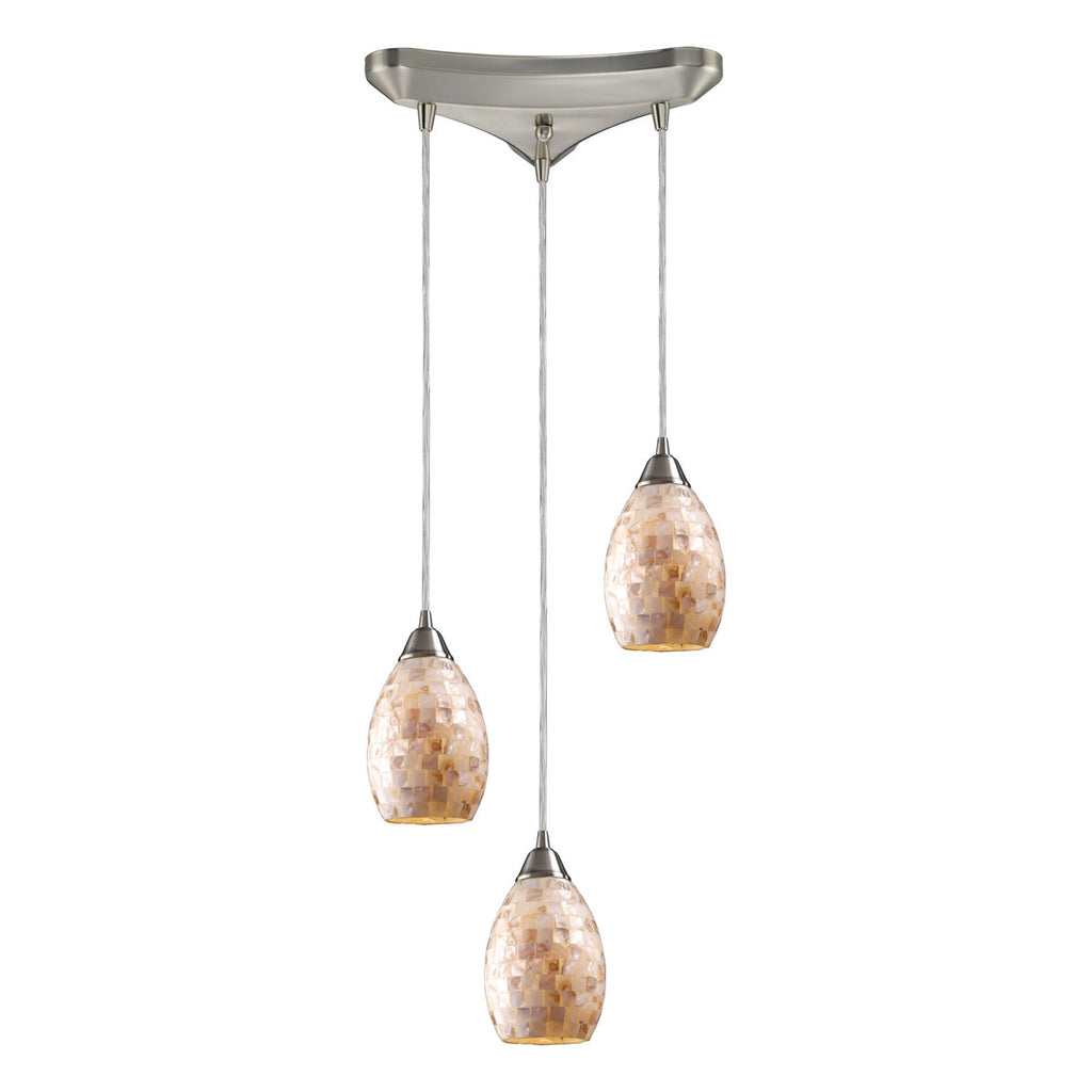 Capri 3-Light Pendant in Satin Nickel