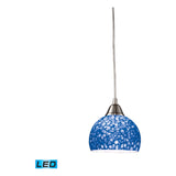 Cira 1-Light Satin Nickel Pendant