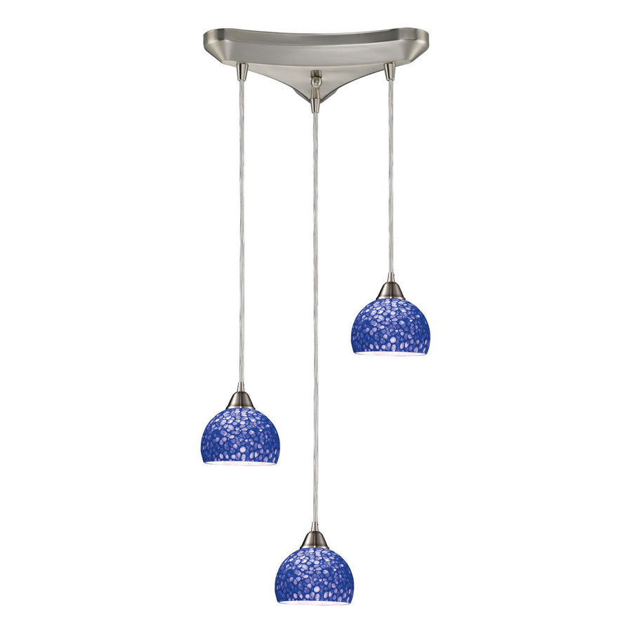 Cira 3-Light Satin Nickel Pendant