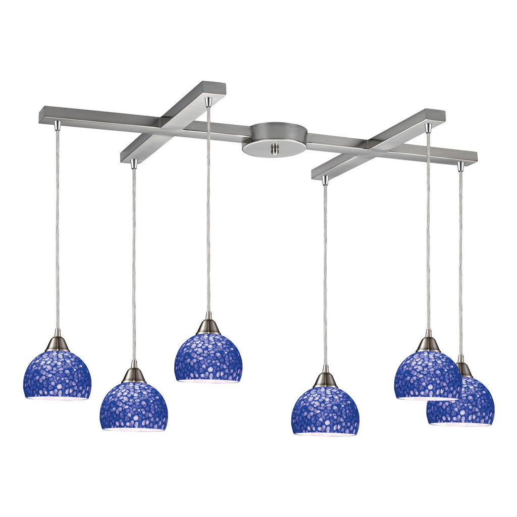 Cira 6-Light Satin Nickel Pendant