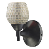 Celina 1-Light Dark Rust and Glass Sconce