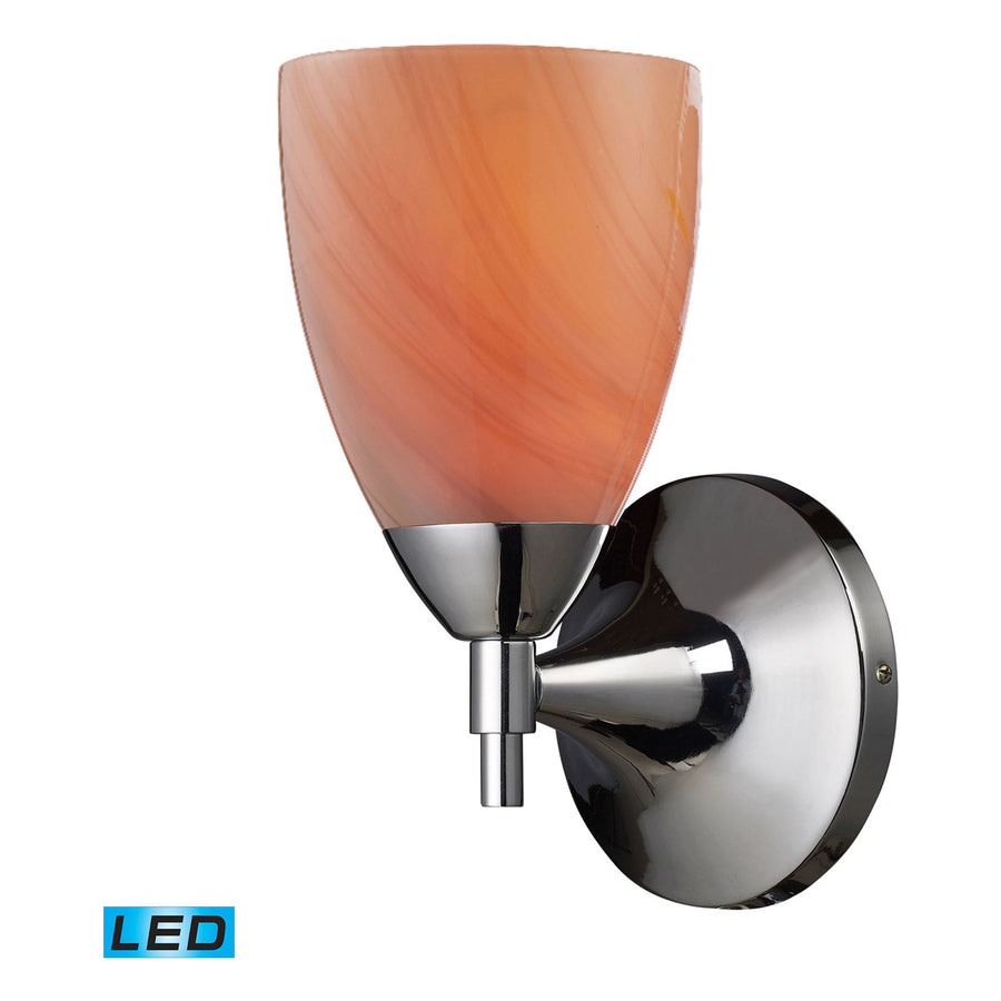 Celina 1-Light Polished Chrome and Glass Sconce