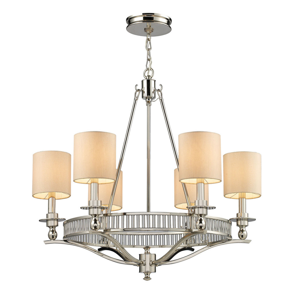 Easton 6-Light Chandelier in Polished Nickel