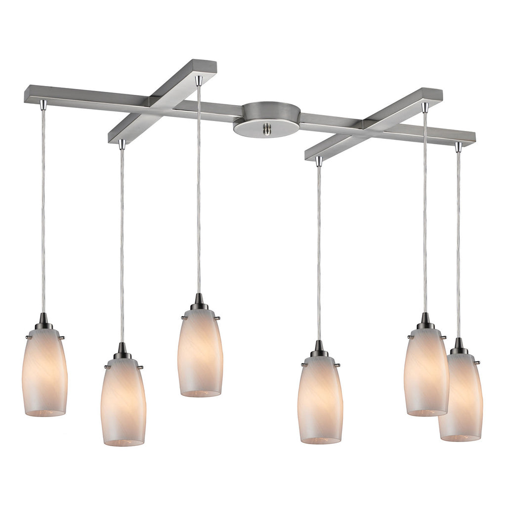 Favelita 6-Light Satin Nickel Pendant