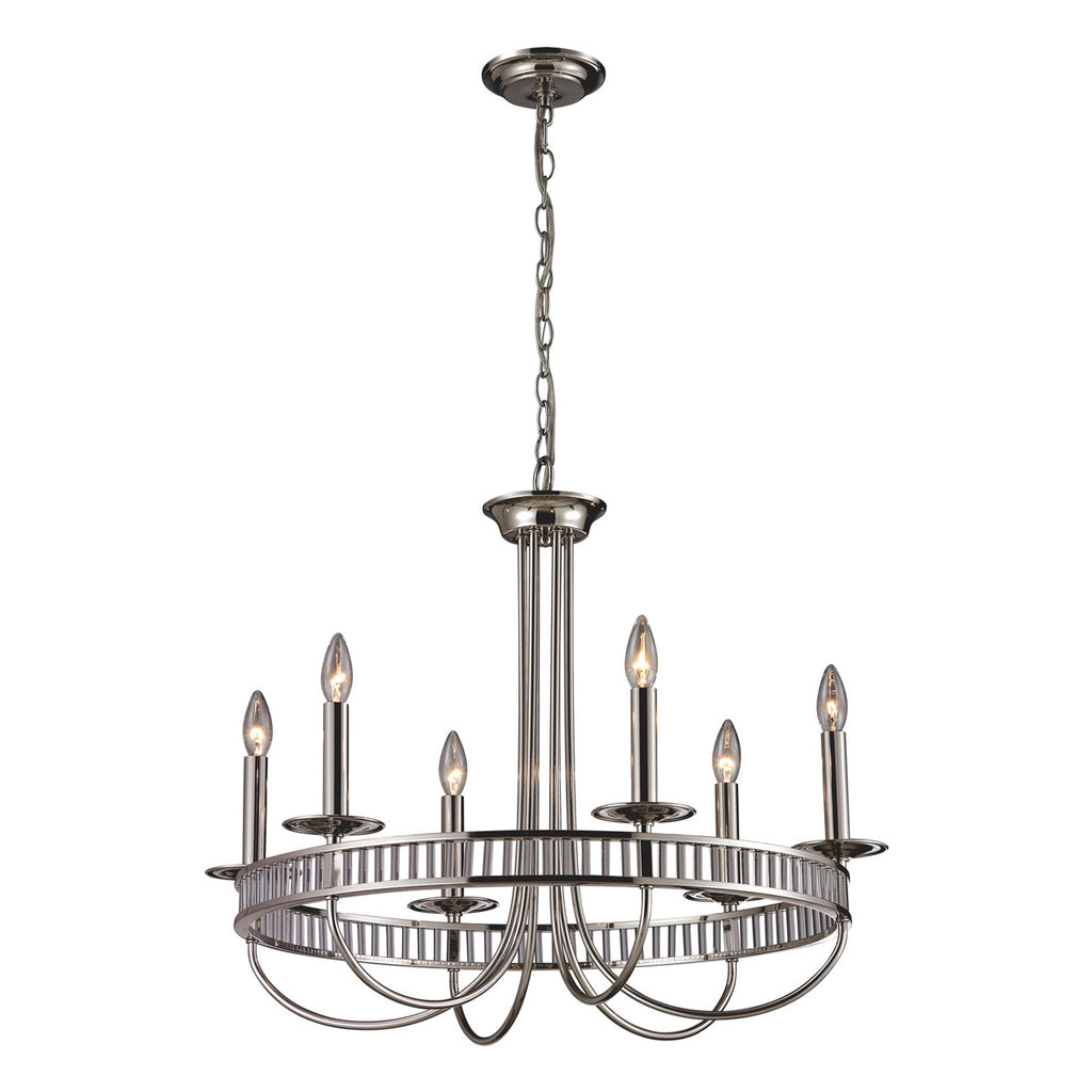 Braxton 6-Light Chandelier in Polished Chrome