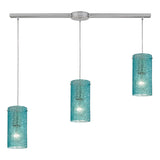 Ice Fragments 3 Lighting Pendant with Satin Nickel