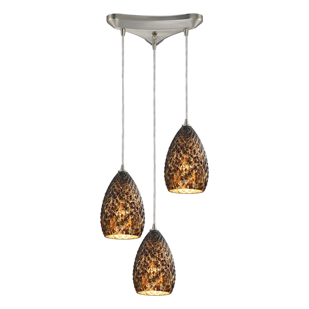 Geval 3-Light Pendant in Satin Nickel