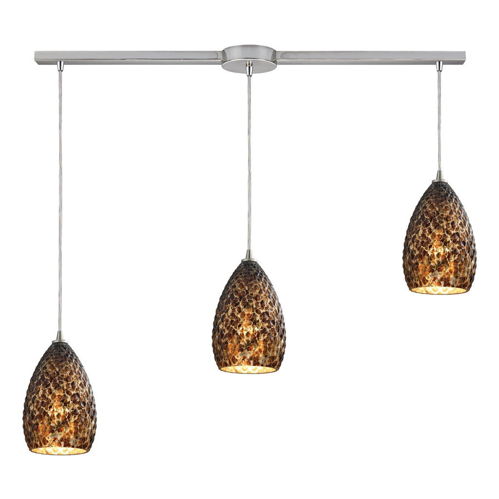 Geval 3-Light Pendant with Satin Nickel