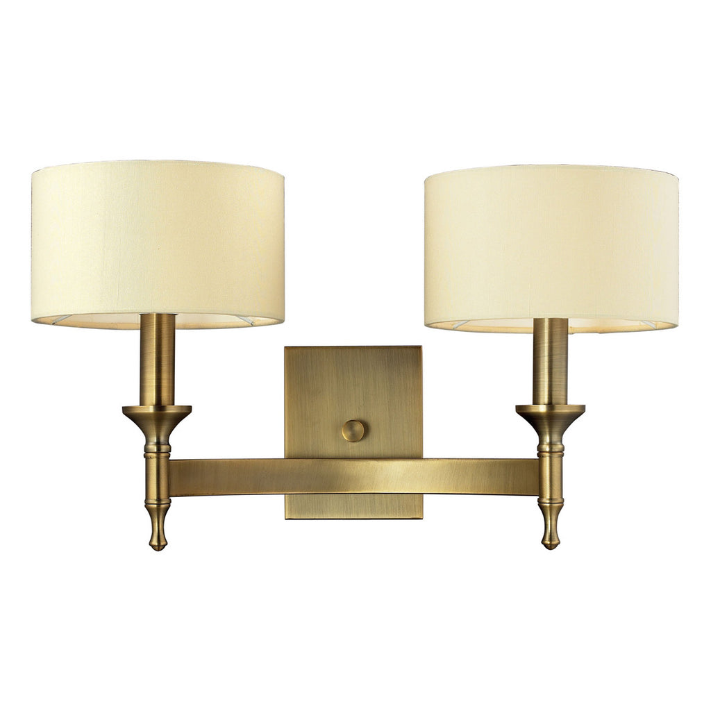 Pembroke 2-Light Wall Sconce in Antique Brass