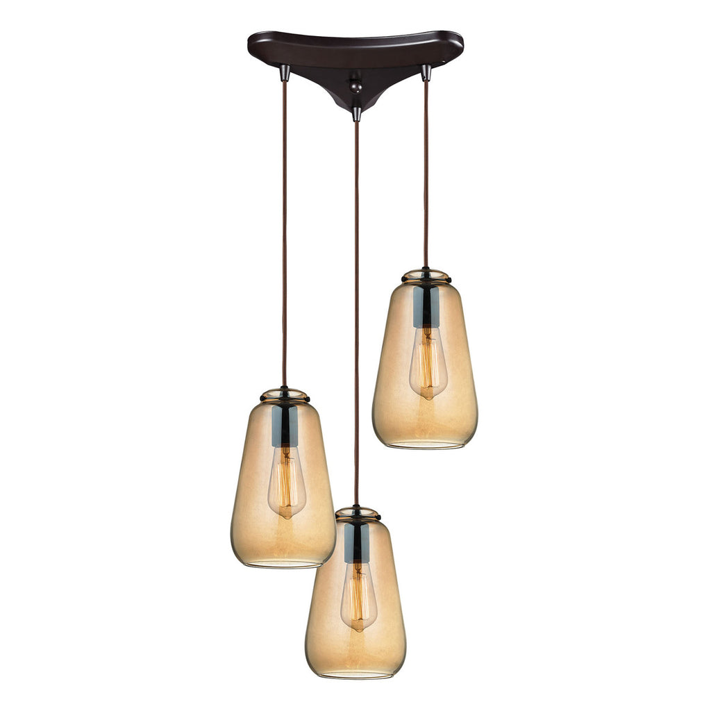 Orbital 3-Light Pendant in Oil Rubbed Bronze