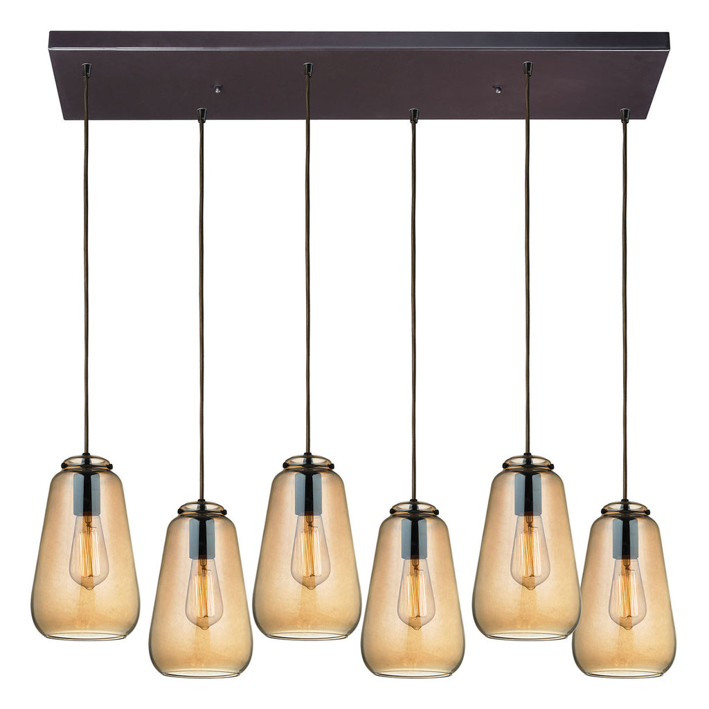 Orbital 6-Light Pendant in Oil Rubbed Bronze