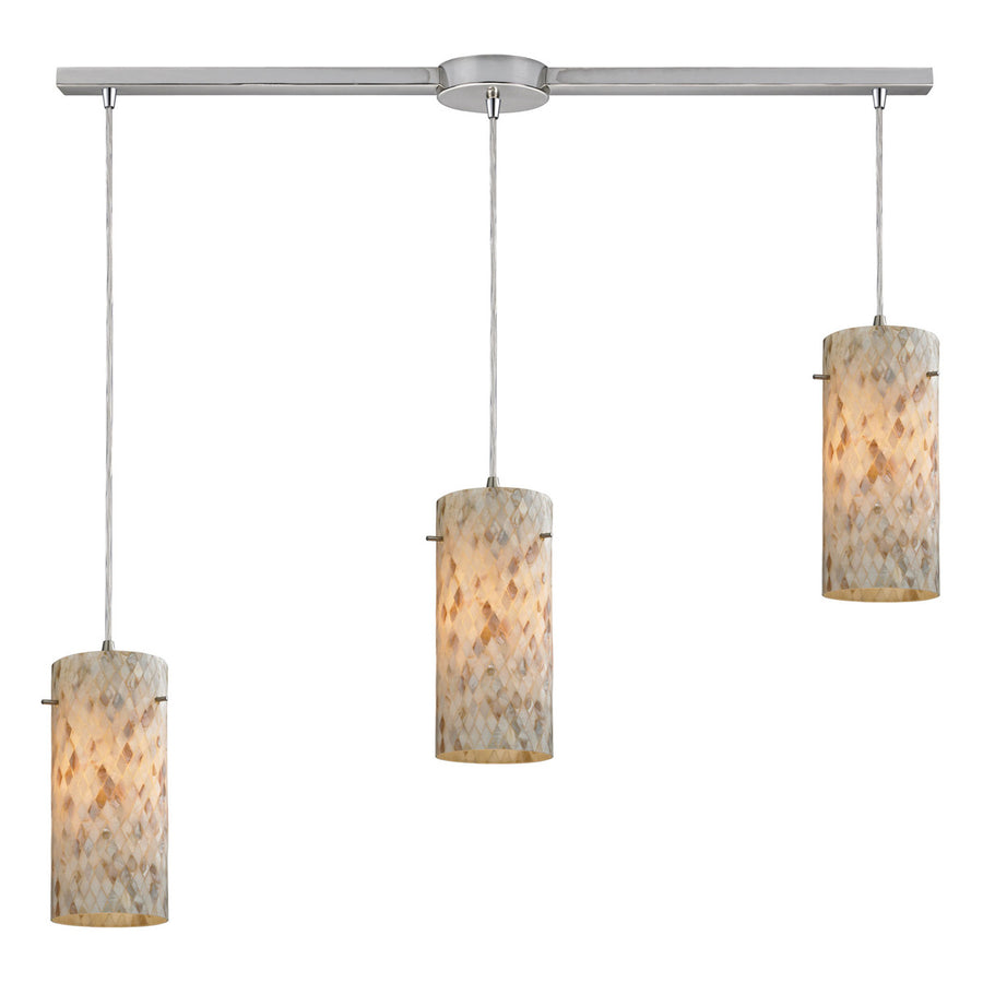 Capri 3-Light Pendant with Satin Nickel