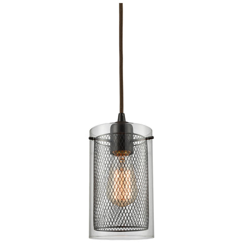 Brant 1-Light Pendant with Oil Rubbed Bronze