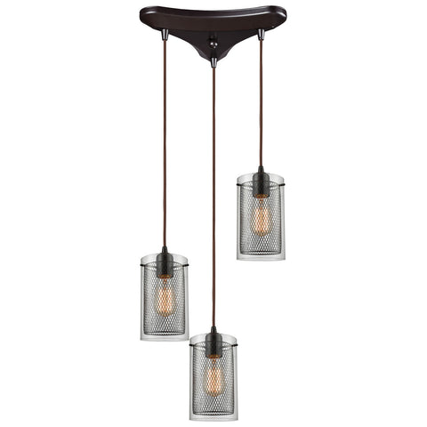 Brant 3-Light Oil Rubbed Bronze Pendant