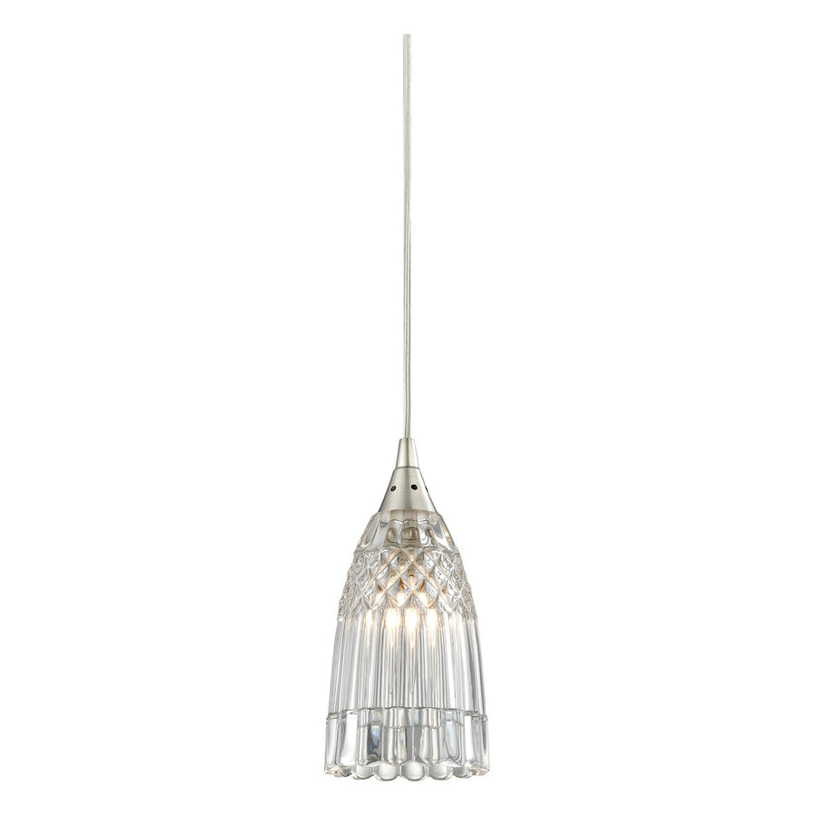 1-Light Kersey Pendant with Satin Nickel