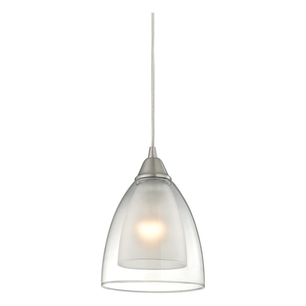 Layers 1-Light Pendant in Satin Nickel