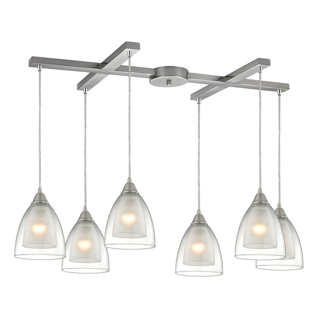 Layers 6 Lighting Pendant in Satin Nickel