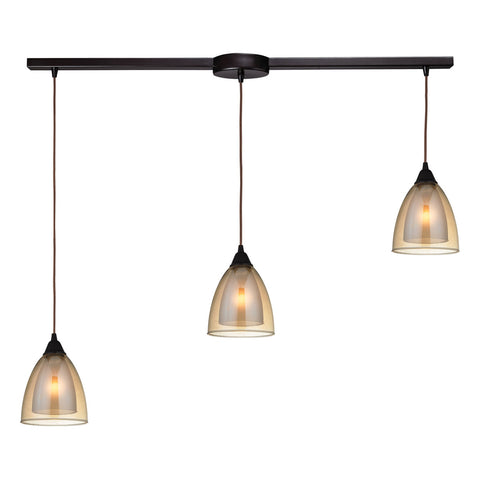Layers 3-Light Pendant in Oil Rubbed Bronze