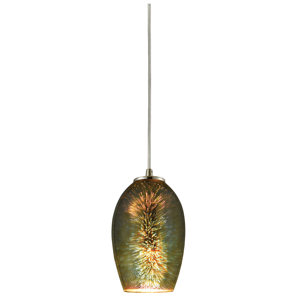 Illusions 1-Light Pendant in Satin Nickel