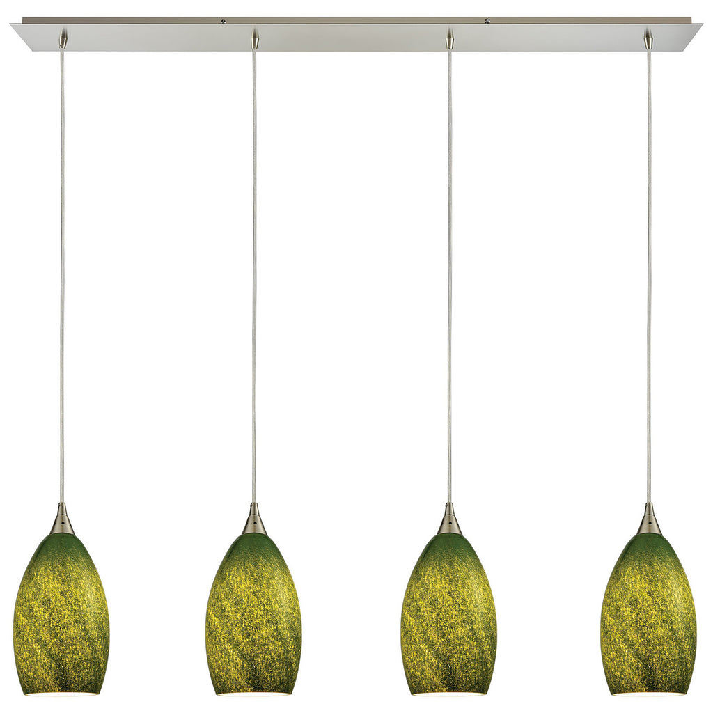 Earth 4-Light Pendant in Satin Nickel
