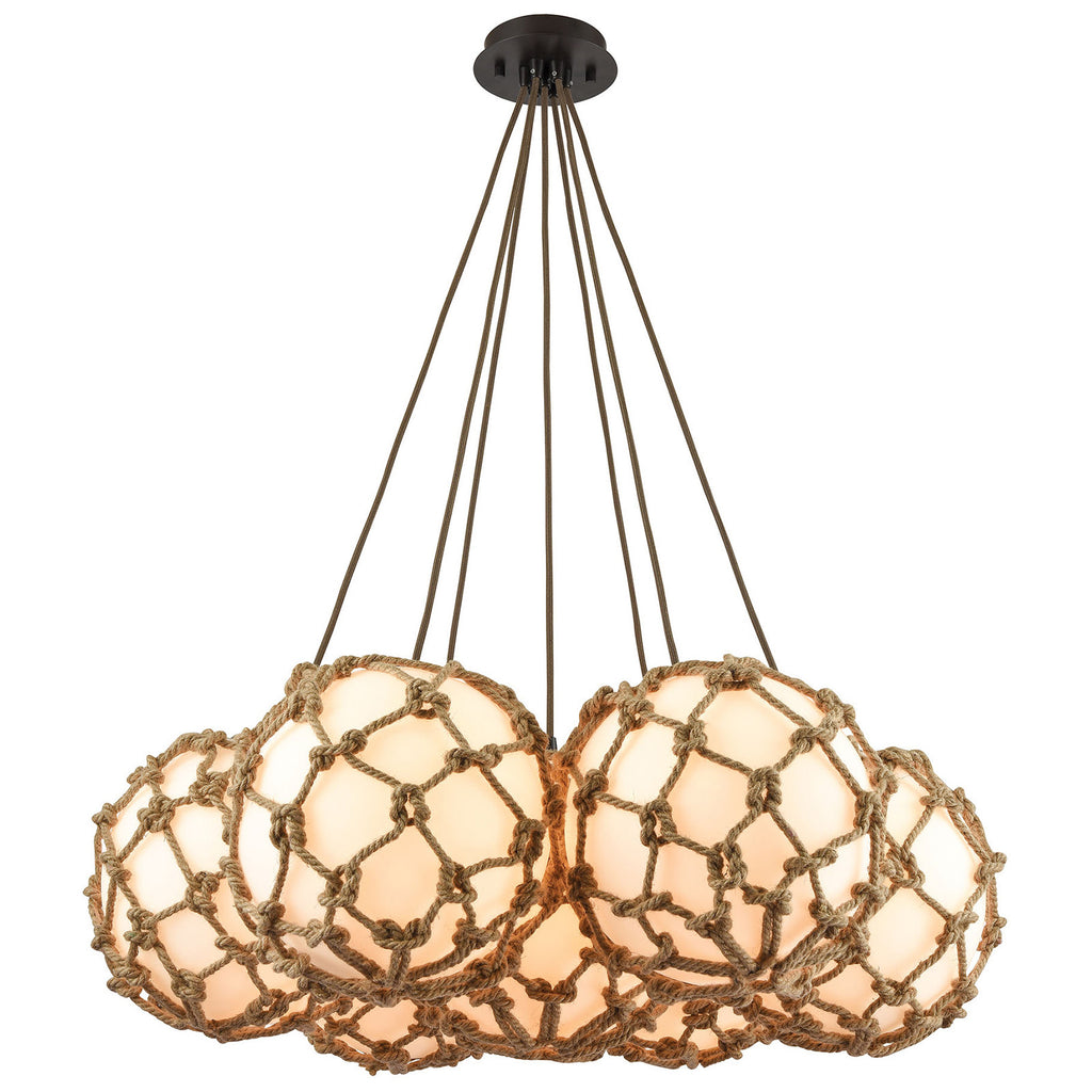Coastal Inlet 7-Light Chandelier with Oil Rubbed Bronze