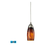 Milan 1-Light Satin Nickel Pendant