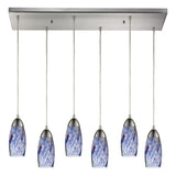 Milan 6-Light Satin Nickel Pendant