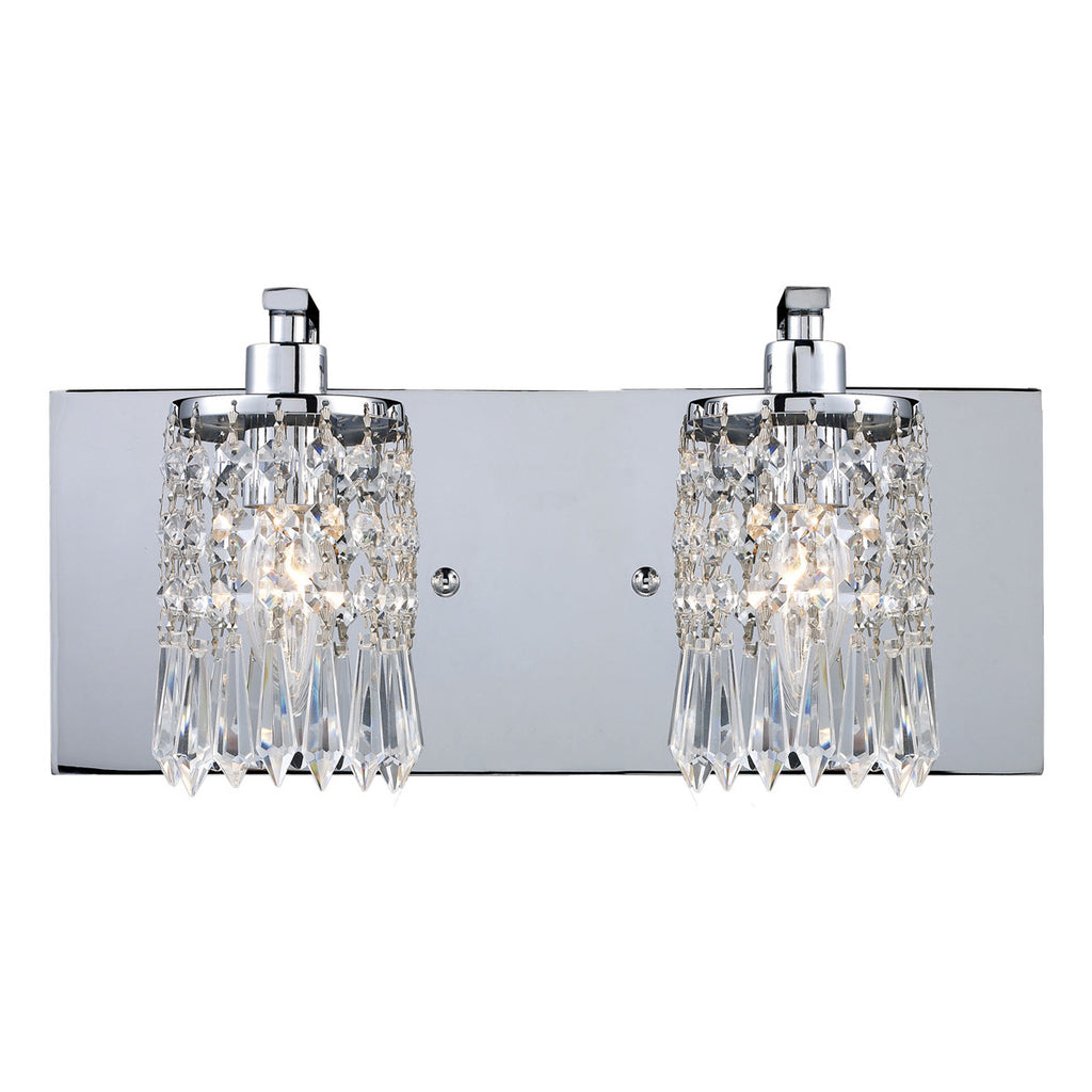 Optix 2-Light Vanity in Polished Chrome