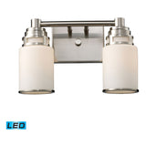 Bryant 2-Light Satin Nickel Vanity