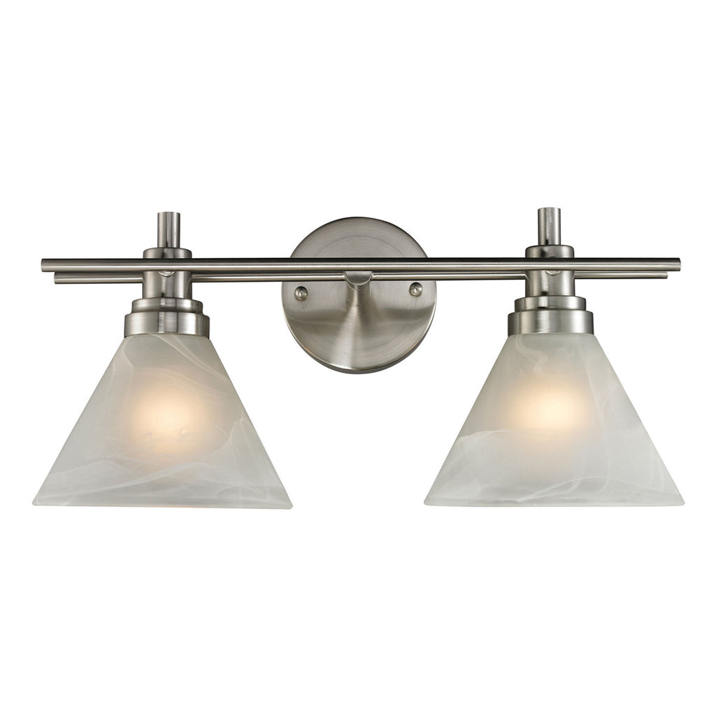 Pemberton 2-Light Brushed Nickel Bath